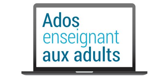 Logo français Ados enseignant aux adultes